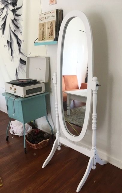 Need a space for getting ready? A classic long floor mirror let's you check your look (without taking up too much space).