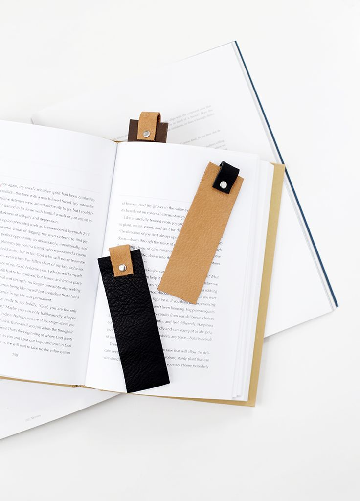 DIY Leather Bookmark 95 best DIY Stationary