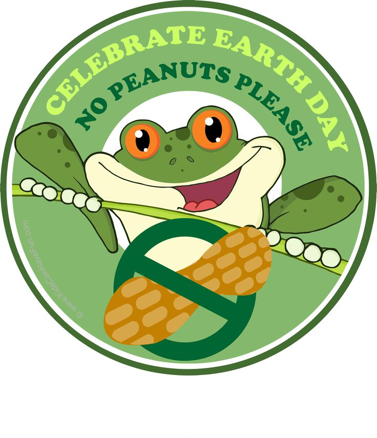 Earth Day No Peanuts Please Allergy Label http://www.kidscanhavefun.com/food-allergy-printables.htm #allergy #earthday #peanutfree
