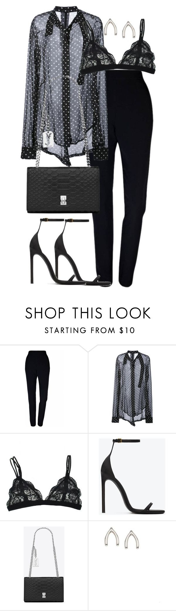 """""""Untitled #3132"""" by theeuropeancloset ❤ liked on Polyvore featuring Plakinger, Unravel, Yves Saint Laurent and Orelia"""