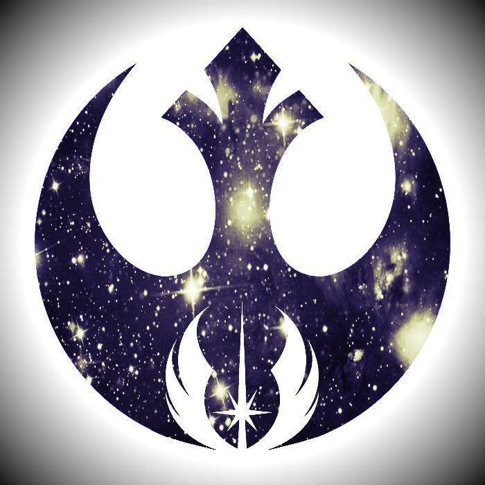 #jedi logo inside #rebel logo frikihobbies