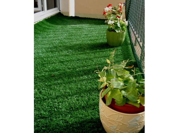 Fake lawn as a carpet - kind of want to do this in my daughter's pink bedroom.  Instant Spring!