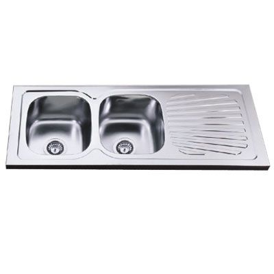 Double Bowl Sink Dish Drain Two Bowl Sink With Drainboard 2d 861 Kitchen Sinks Pinterest Double Bowl Sink Sinks And Bowl Sink