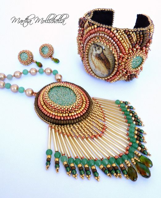 Owl jewels barn owl jewelry by Martha Mollichella - Lacasinaditobia Lacasinaditobia