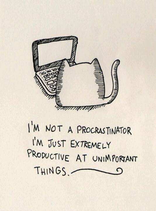 I compulsively procrastinate, I need to stop this action right now?
