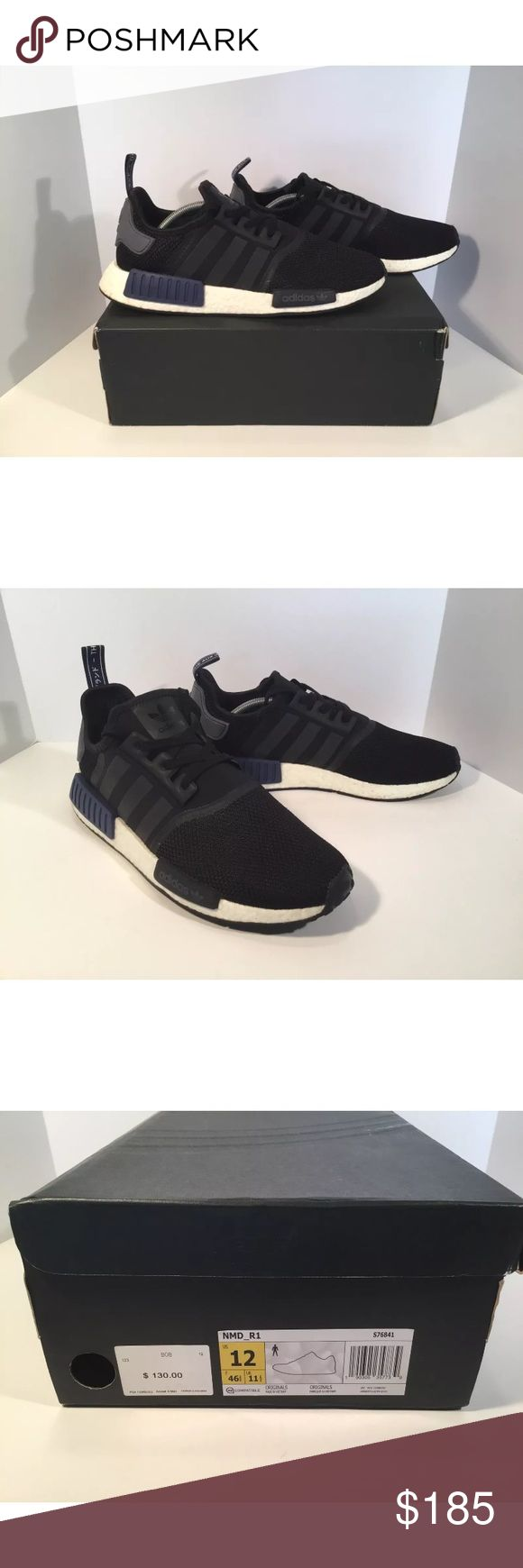 Adidas NMD R1 Sports Heritage Black Item details:   -adidas brand  -in great condition  -comes with box  -Men's Size 12  -Blue, Black And White  -I ship next day  -nmd R1   Please let me know if you have any questions. adidas Shoes Athletic Shoes