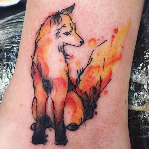 aurora borealis fox tattoo - Google Search