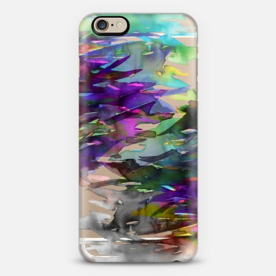 """Fervor 1"" by Artist Julia Di Sano, Ebi Emporium on @casetify Colorful Bold Watercolor Deep Violet Orchid Purple Aqua Green Blue Black Grey Multicolor Brushstrokes Petals Flowers Splash Pattern Transparent iPhone Samsung Galaxy Tech Device Case, #iPhonecase #iPhone5 #iPhone6 #SamsungGalaxy #transparent #green #purple #watercolor #multicolor #floral #flowers #ombre #girly #chic #swirls #colorful #rainbow #art #abstract #painting #splash #EbiEmporium #Casetify, Get $10 off using code: 5K7VFT"