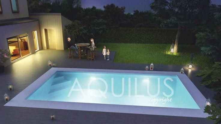 La piscine DOOPLEX s'affiche sans complexe ! Dooplex by Aquilus : 20% de pentes, 80% de jeu, 100% irrésistible !  Un profil pente composée pour deux espaces de jeux, un mélange de générations.