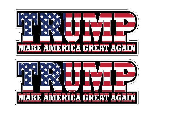 Donald Trump Make America USA Great Again 2x Sticker Aufkleber Autocollants digital Print America First Patriots Car Truck Bike Notebook by Artgraphixx on Etsy