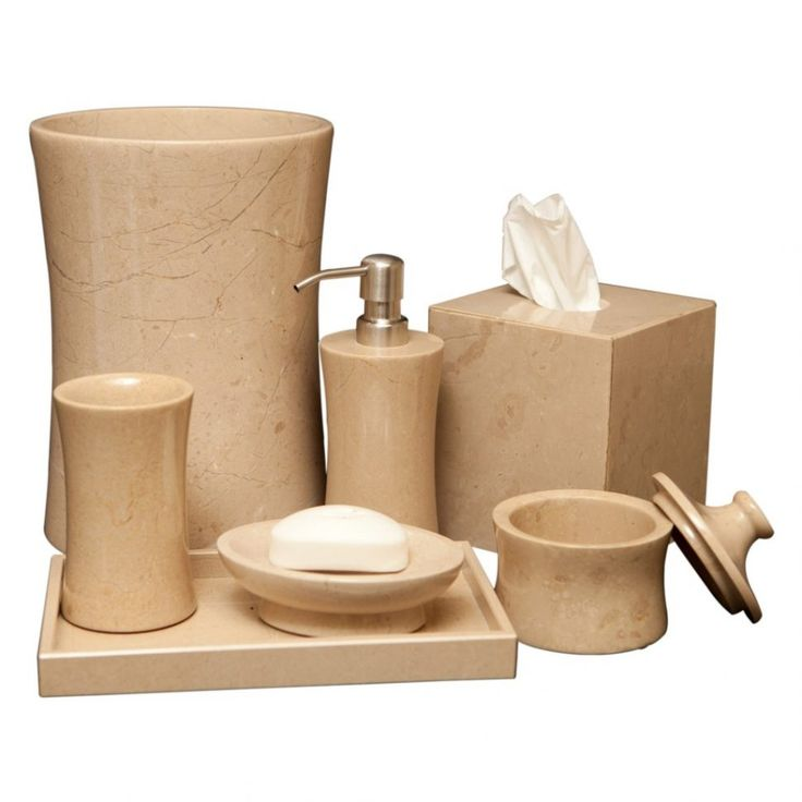 Dark Wood Bathroom Accessory Sets