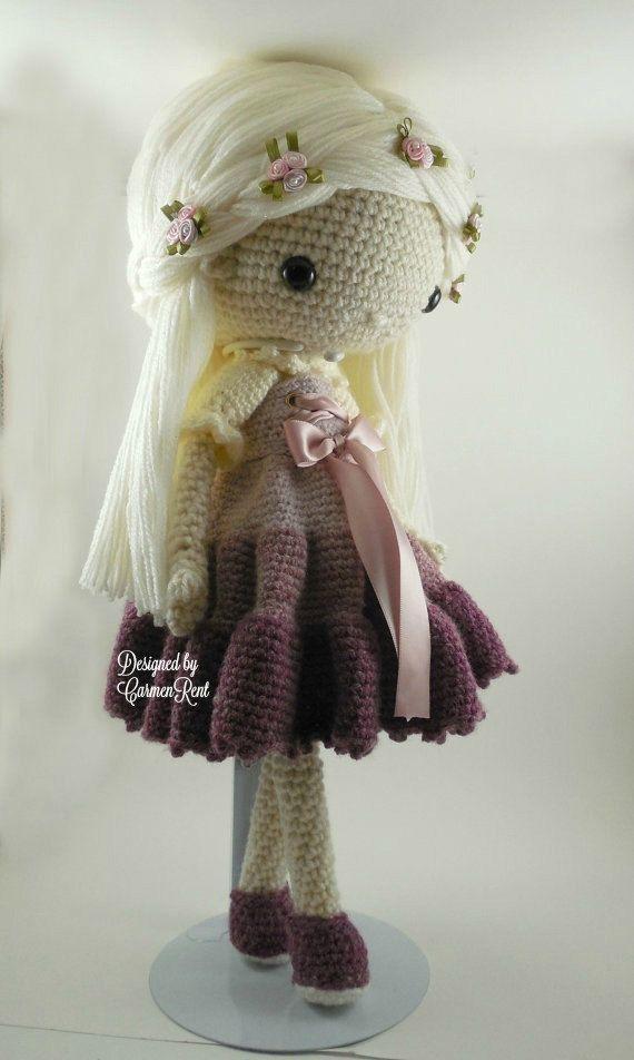 Victoria muñeca Amigurumi Crochet patrón PDF por CarmenRent