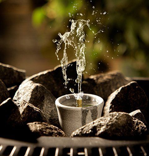 Humidify the air and create a unique sauna environment by adding a fountain to your sauna heater! Made of soapstone, the SISUKAS (11021) fountain has 1 water pillar and a 1 oz. water capacity. Aromas can be added to the water for extra enjoyment as well. | eBay!