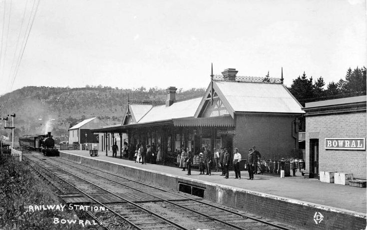 Bowral Railway Station in the Southern Highlands of New South Wales (year unknown).