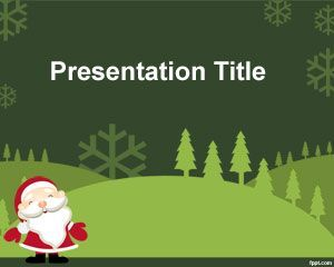 40 best christmas powerpoint template images on pinterest free green christmas powerpoint template ppt template toneelgroepblik Gallery