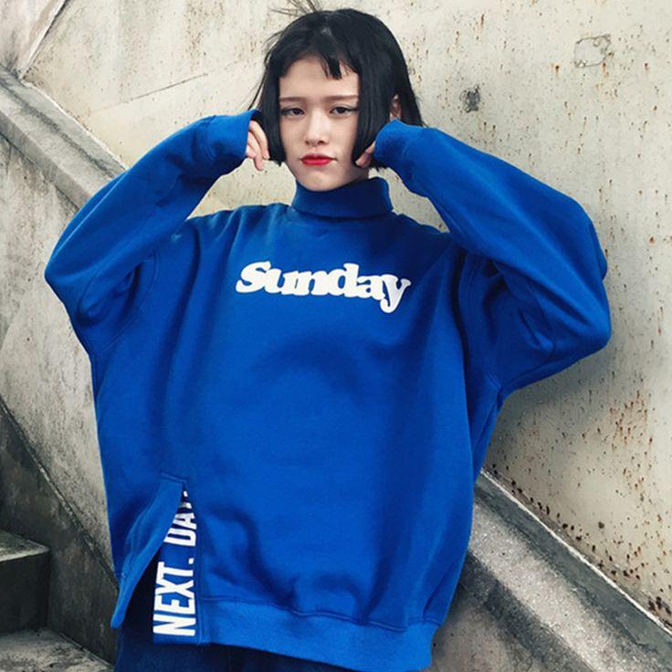 Sunday Next Day A... http://www.jakkoutthebxx.com/products/11-11-2016-autumn-women-harajuku-hoodies-sweatshirts-blue-yellow-kawaii-female-letter-hoody-high-collar-tracksuit-sweatshirt?utm_campaign=social_autopilot&utm_source=pin&utm_medium=pin #fashionmodel  #model #fashiontrends #whatstrending  #ontrend #styleblog  #fashionmagazine #shopping