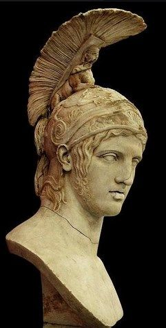 Head of Ares - after Greek original by Alkamenes 420 B.C, at the State Hermitage Museum, Saint-Petersburg