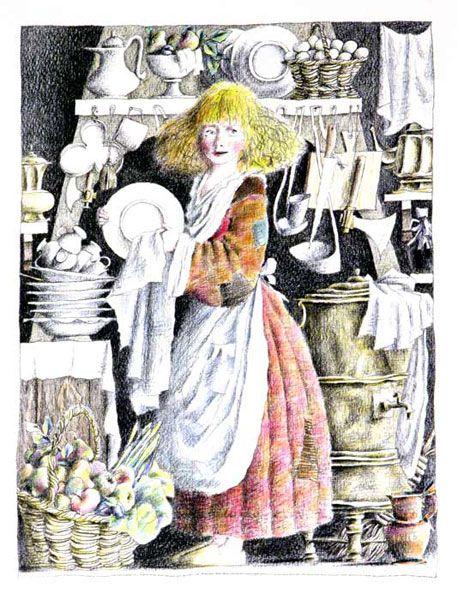 "Mikhail Bychkov, illustration for ""Fairy Tale""."