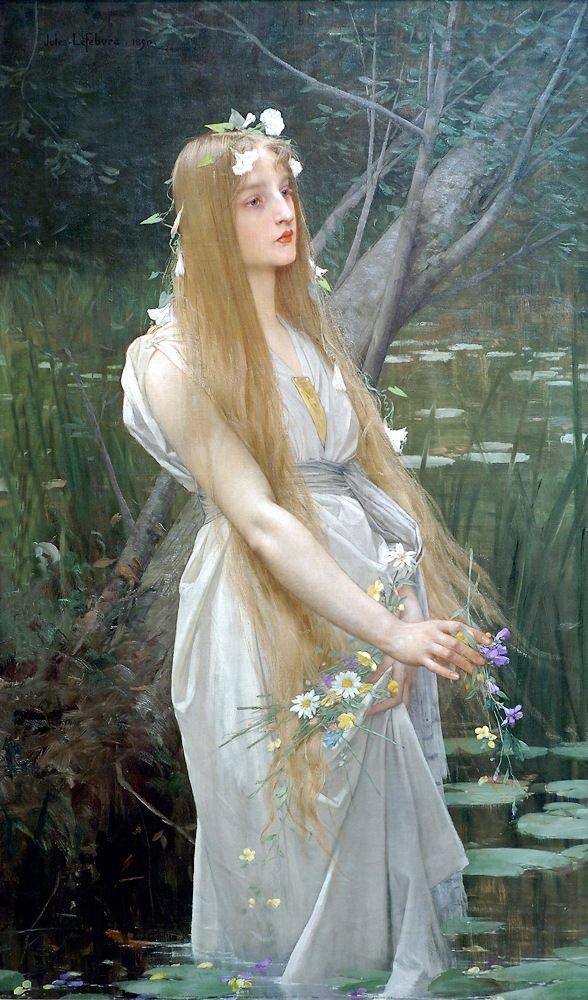Jules Lefebvre - Ophelia (1890)