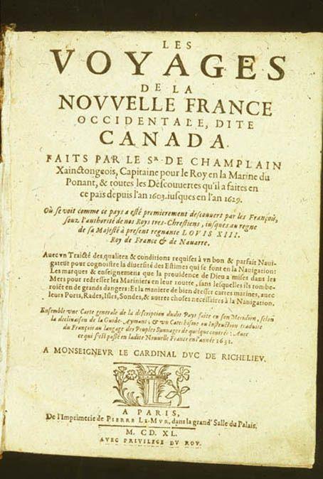 Voyages de la Nouvelle France, 1640 (Toronto Reference Library)