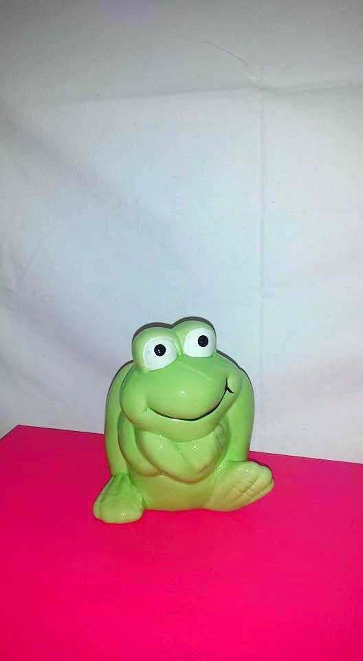 Vintage Green Frog Bank,Kitsch, Childrens Bank,Frog  Piggy Banks,Vintage Piggy Bank, Green, Frog, Toad, Vintage Bank, Retro Bank by JunkYardBlonde on Etsy