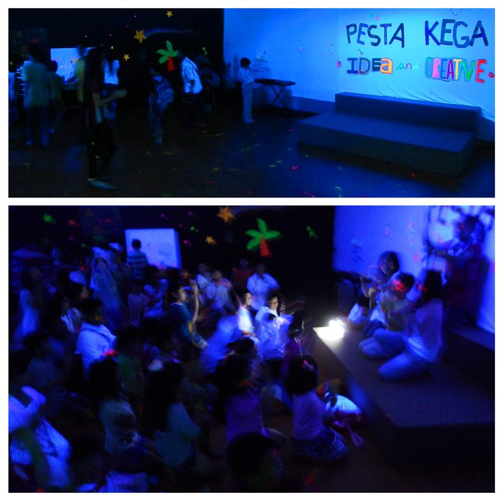2013 KEGA Party idea : Fun & Creative with black light (UV light) and flourescent colour