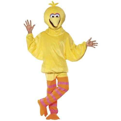 Dit Pino kostuum is van de vogel uit Sesamstraat. Dit Pino verkleed kostuum is geel van kleur en is compleet met benen, romp en hoofd! Ga verkleed als de karakters uit Sesamstraat. Het kostuum bestaat uit 3 delen. One size model ruimvallende jumpsuit. Geschikt voor lengte tot 1,90 m. Onze size fits all. Carnavalskleding 2015 #carnaval