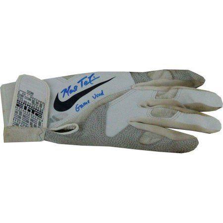 Mark Teixeira Signed /Game Used Blue/Black Diamond Elite Batting Glove
