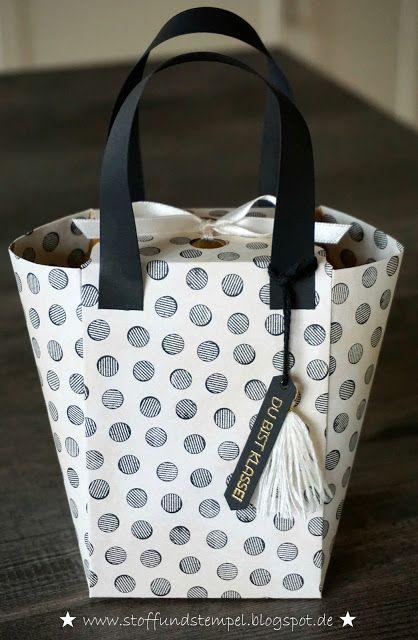 Stoff und Stempel / Envelope Punchboard / Handtasche aus Papier / Stampin'Up!