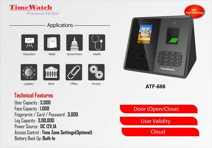 Atf686 face reader for your attendance need it has multi