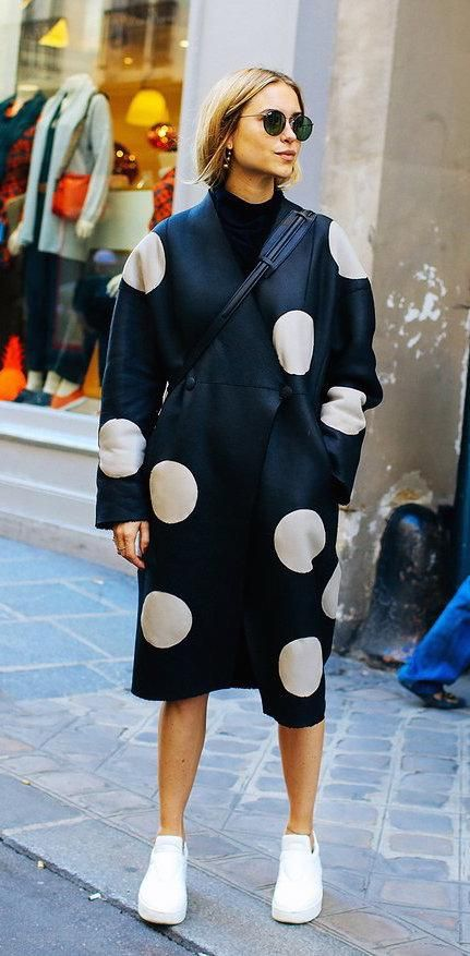 Pernilel Teisbaek in an Anne Vest coat and Céline shoes