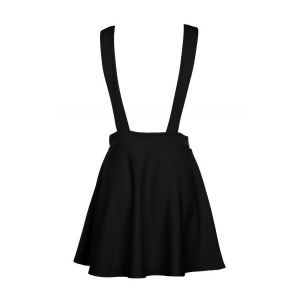 Jade Thirlwall Black Pinafore Style Dress (€11) ❤ liked on Polyvore featuring dresses, skirts, bottoms, black, night out dresses, black cocktail dresses, holiday party cocktail dresses, black evening dresses and striped cocktail dress