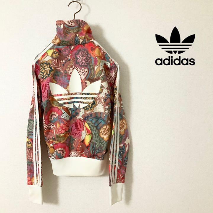 8683e929c74e8 メルカリ - 【美品】adidas originals 総柄 フラワーパターン トラックトップ 【ジャージ