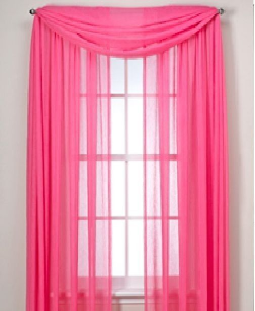 Details About Sheer Scarf Window Treatments Curtains