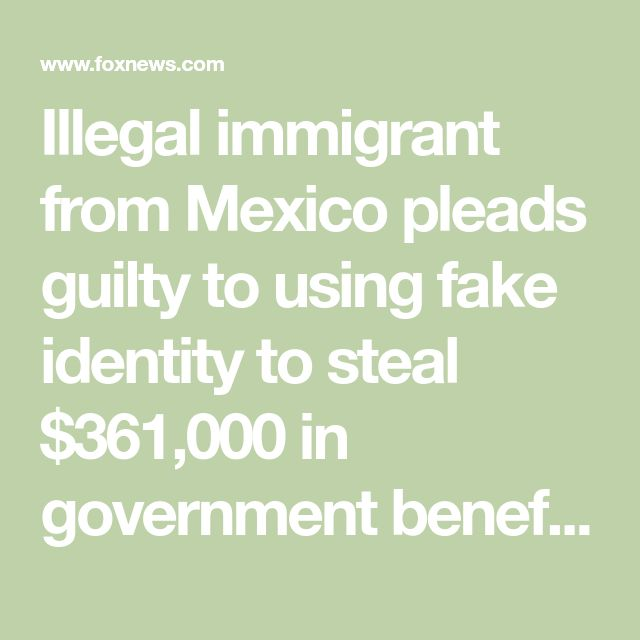 Illegal immigrant from Mexico pleads guilty to using fake identity to steal $361,000 in government benefits | Fox News
