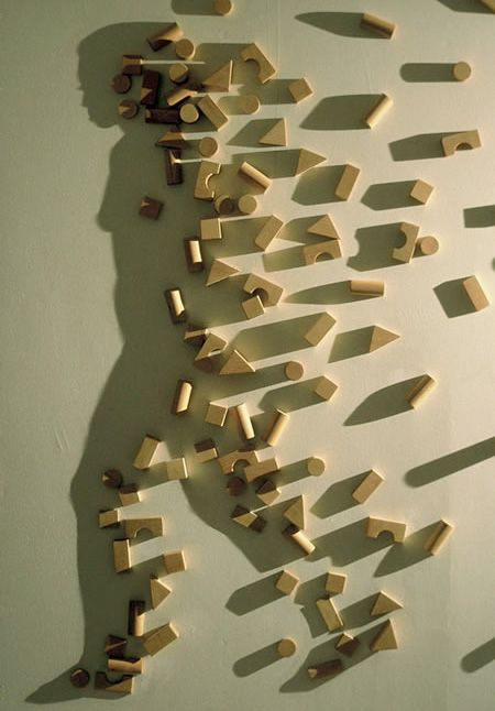 Light and Shadow by Kumi Yamashita: Unit blocks - arguably the only toy a child needs. #Photography #Kumi_Yamashita #Toys #Unit_Blocks