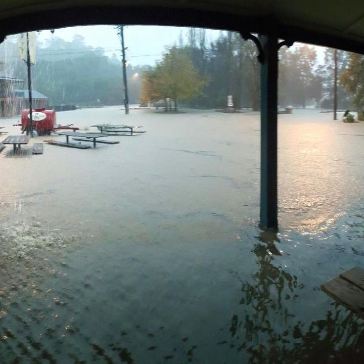 6th June 2016 Flood  View from the front door of George IV Hotel