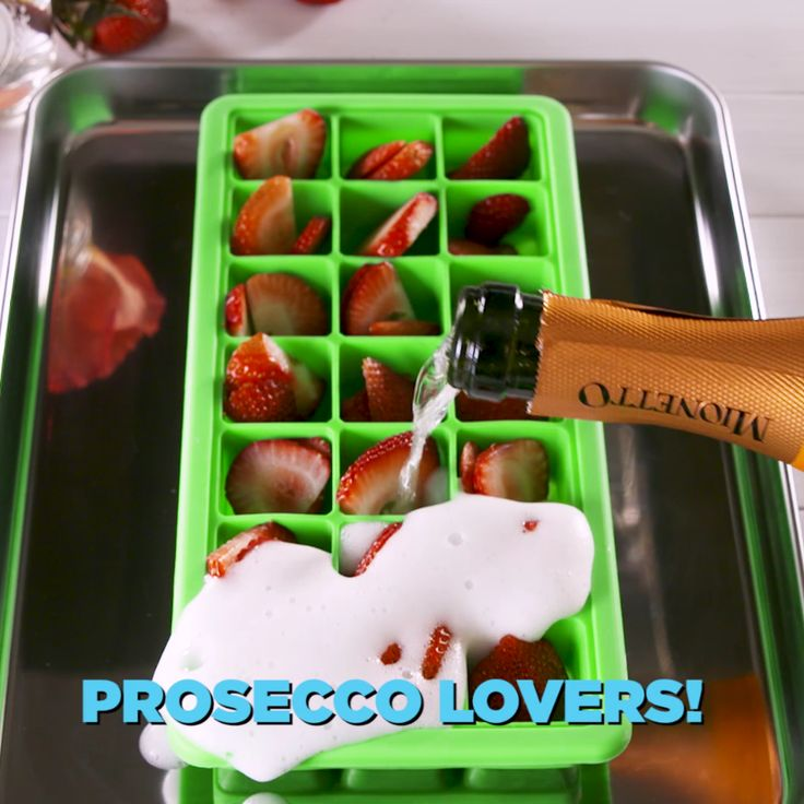 Prosecco Ice Cubes