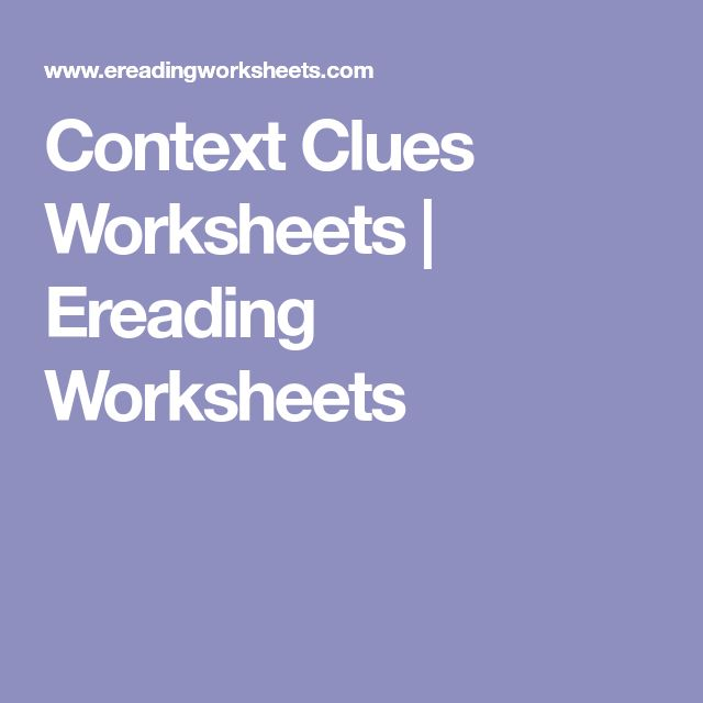 context clues worksheets middle school pdf
