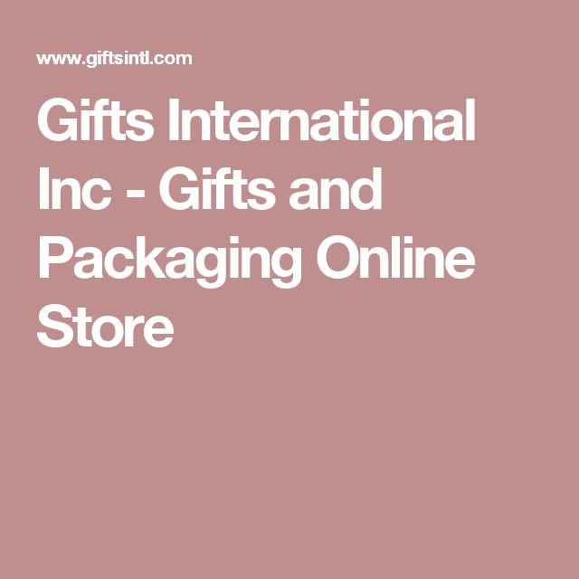 Gifts International Inc - Gifts and Packaging Online Store