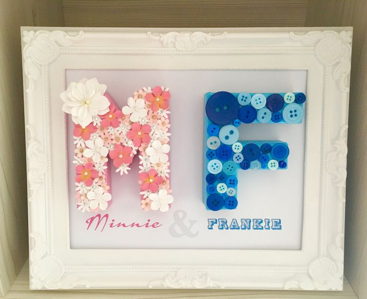 Best 25 name frame ideas on pinterest country inspired cream personalised name frame sibling gift gift for twins new baby gift family negle Images