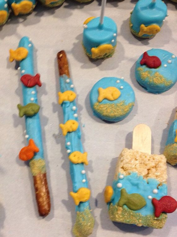 GOLDFISH PRETZELS (12) - Under The Sea - Adventures full of Fish, Bubbles, and Fun on Etsy, $12.00