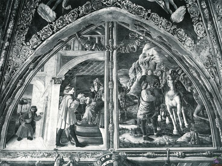 Scenes from the Life of St.Christopher by @artistmantegna #italianart #andreamantegna