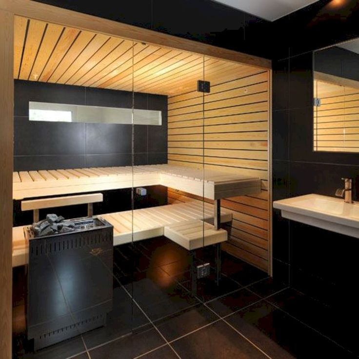 Amazing 33 Comfy Home Sauna Design Ideas