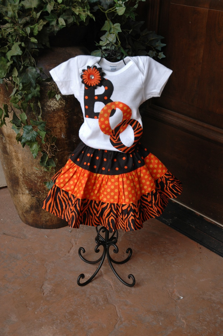 boo shirt and twirl skirt This is a Natalia Birthday Outfit!!! So cute!