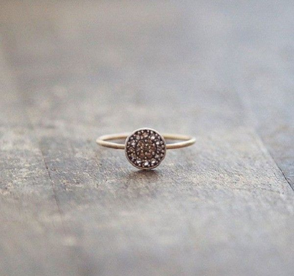 Swooning over this simple gold nontraditional wedding ring.   See more simple #wedding rings here: http://www.mywedding.com/articles/simple-wedding-rings-youll-love/
