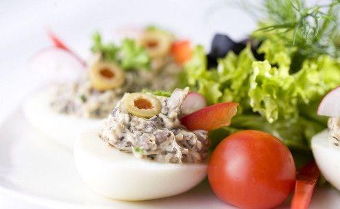 Jaja faszerowane pieczarkami