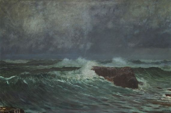 Artwork by Antonín Hudeček, Before the Storm, Made of Oil on canvas