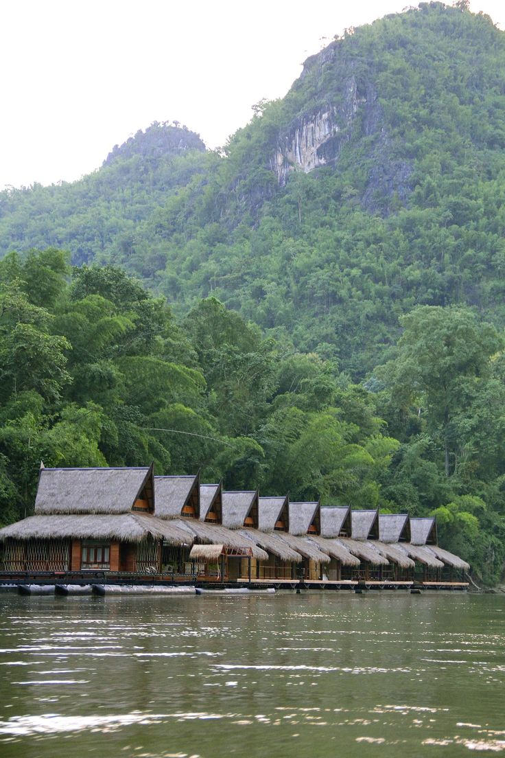 The FloatHouse River Kwai Resort. Located in River Kwai, Kanchanaburi, Thailand