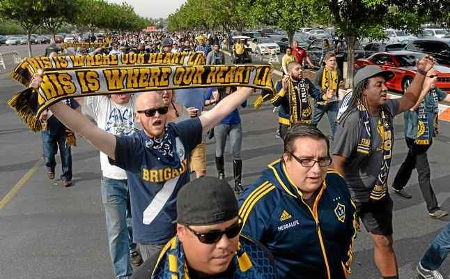 Whether it's last year's MLS Cup showdown versus the New England Revolution, above, or last week's CONCACAF Champions League match against Central FC, parking and traffic have been troublesome for Galaxy fans at StubHub Center. (Will Lester/Staff Photographer)